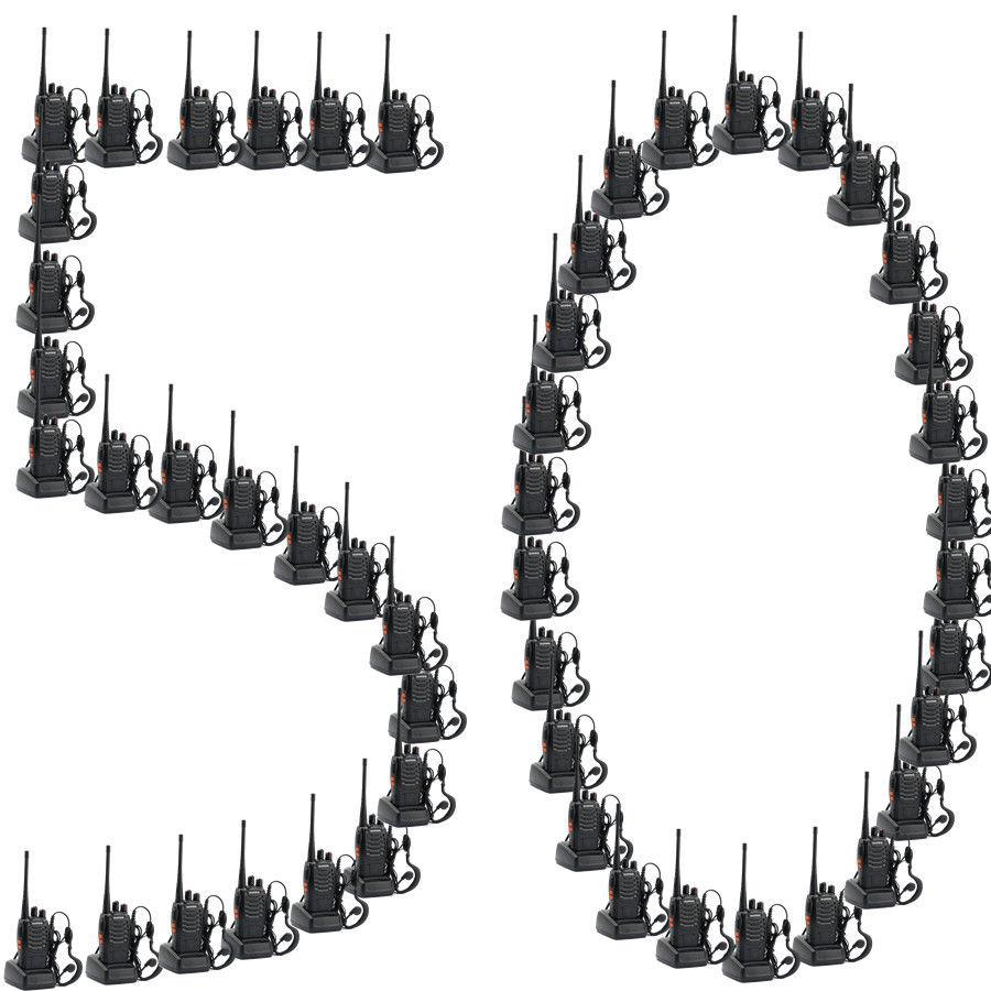 50pcs Baofeng BF-888S 400-470MHz 5W CTCSS Dual-Band Two-way Ham Radio Walkie Talkie Bf888s 50 CTCSS/105 CDCS