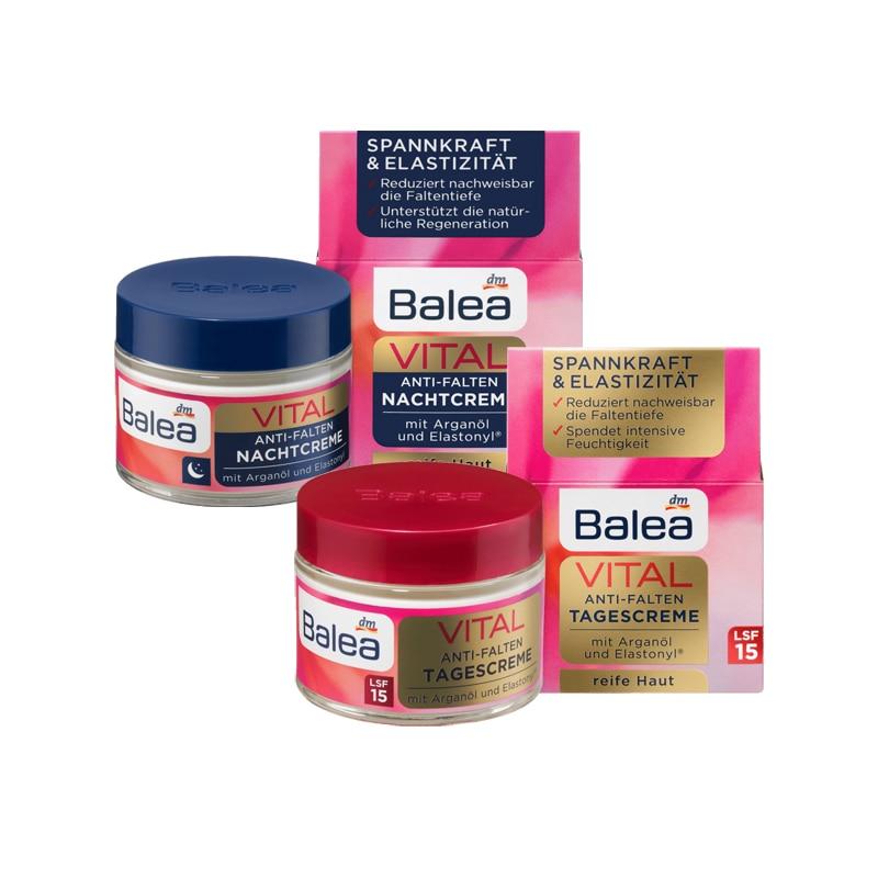 Newest Balea Vital Baobab Day Night Cream for Women Mature Skin Anti Aging Wrinkle Moisturizing Repair Elasticity Firmness