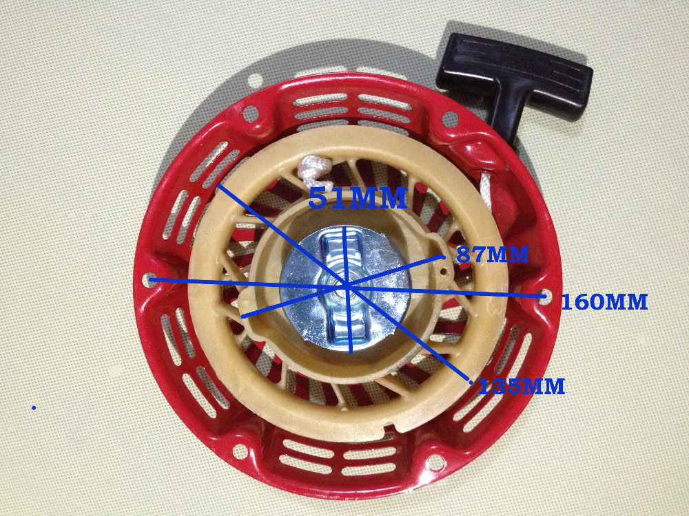 Pull Recoil Starter Rewind Start(iron) For Honda Generator Spare Parts Gx120 Gx160 Gx200 168F 170F 5.5/6.5HP 2KW/3KW