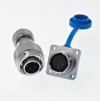 À Prova de água Plugue Plugue Aviação Tomada M16 Conector Em Linha Reta 2 3 4 5 6 7 8 9 10 11 12 pinos|Conectores| |  -