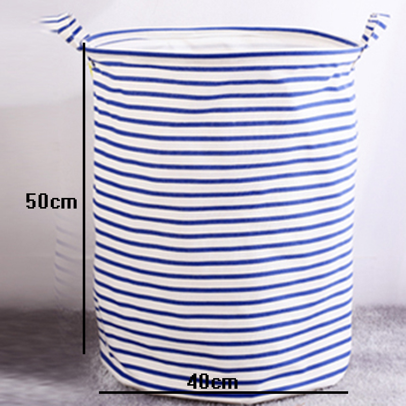 Large Size Foldable <font><b>Storage</b></font> <font><b>Baskets</b></font> Canvas Stripe Waterproof Sundries <font><b>Basket</b></font> Dirty Clothes Kids Toy <font><b>Storage</b></font> <font><b>Basket</b></font>