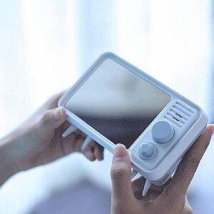 Image 3 - Горячая многофункциональная ретро форма, ТВ будильник, лампа, зеркало, многофункциональные зеркальные часы, термометр, кровать, часы серый, синий