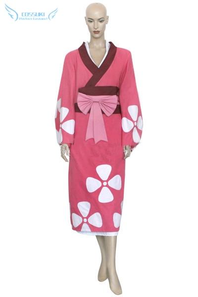 Newest High Quality Samurai Champloo Fuu Kimono Cosplay Costume Perfect Custom For You
