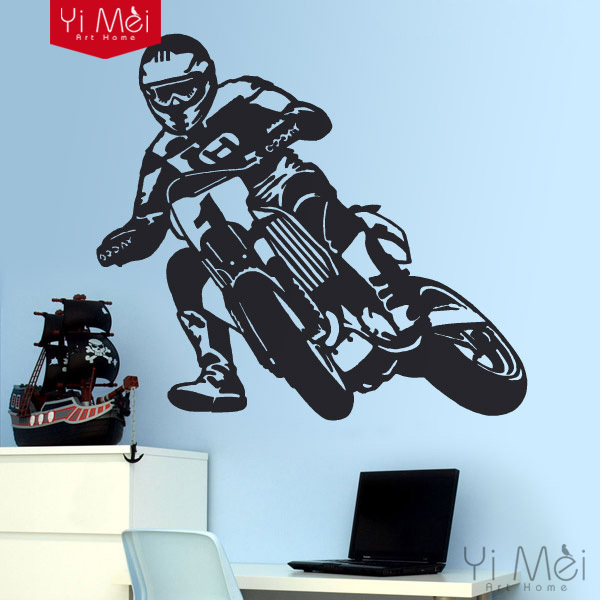 Cool men Motorcycle Home Decor wall stickers wall decals for home decoration