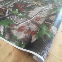 1.52*5/10/15/20/25/30M PVC Realtree Camo Vinyl Sticker Real Tree Camouflage Vinyl Wrap For Car Truck Furniture Stickers