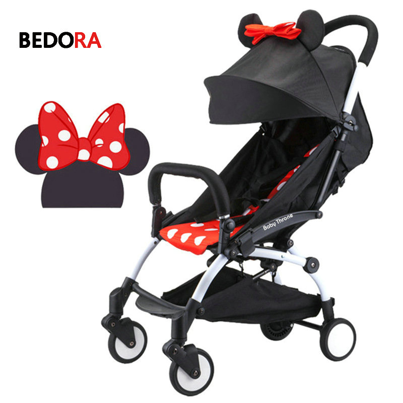 Bedora baby trolley summer baby strollers ultra-lightweight folding can sit and lie high landscape baby cart free shipping все цены