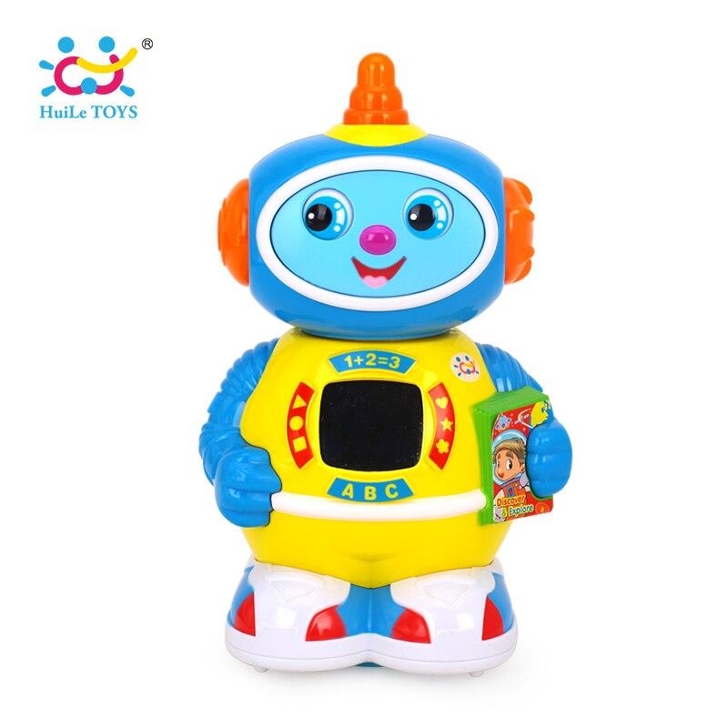 HUILE игрушки 506 музыкальные вращающихся робот прогулки и облегчить электронная игрушка робот рождественские подарки на день рождения игрушк... ...