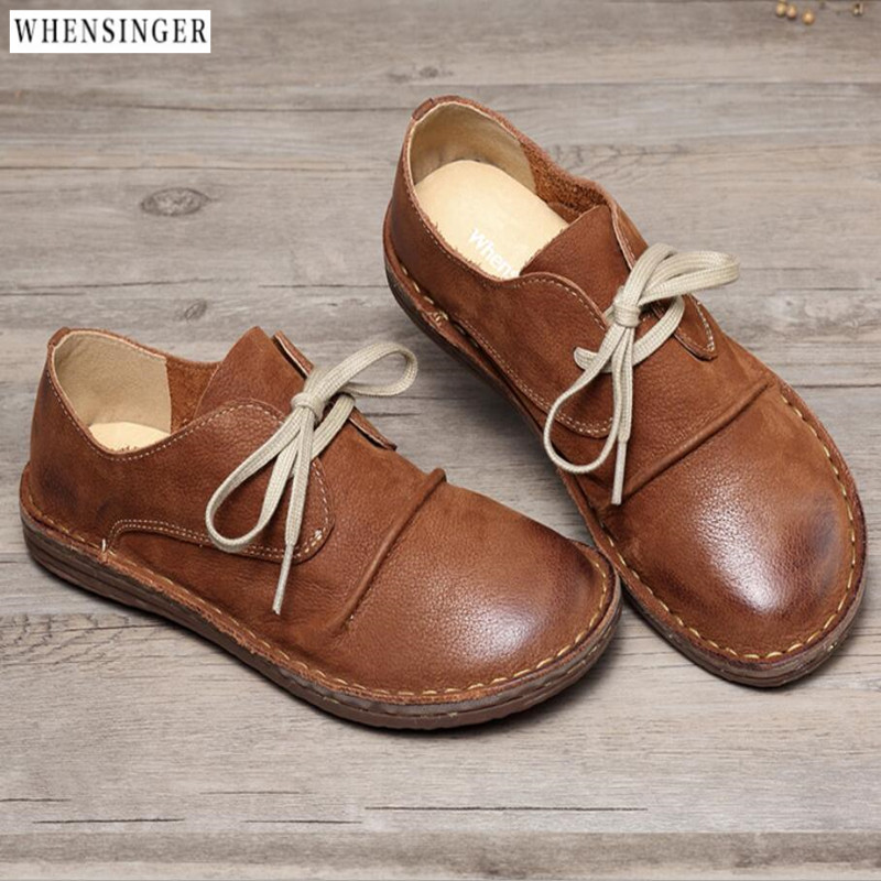 2018 Spring Summer New Genuine Leather Women Shoe Casual Leather Shoes For Women Flat Shoes Ladies Lacing Loafers2018 Spring Summer New Genuine Leather Women Shoe Casual Leather Shoes For Women Flat Shoes Ladies Lacing Loafers