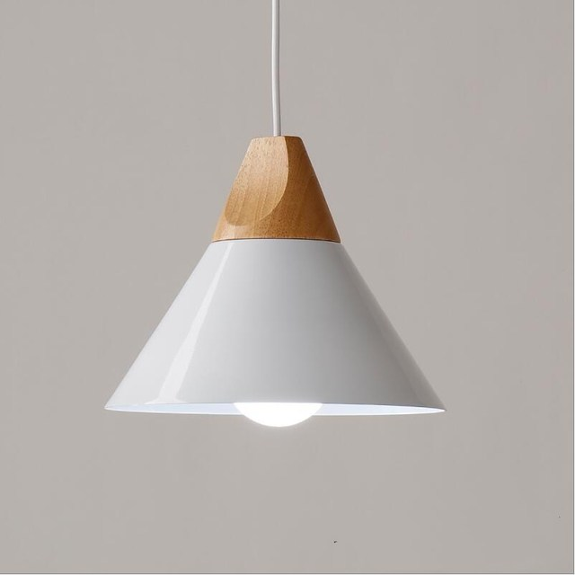 Small modern wooden pendant lights lamparas home light colorful small modern wooden pendant lights lamparas home light colorful aluminum lamp shade dining room lights cafe aloadofball Image collections