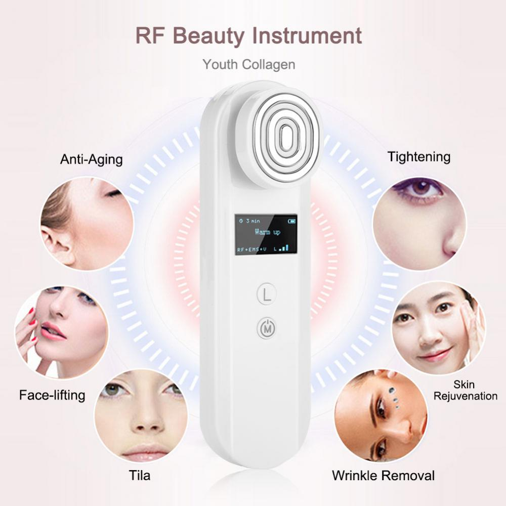 RF Photon Light Therapy Machine EMS Facial Skin Lifting Firming Device Face Tightening Wrinkle Removal Rejuvenation Massager