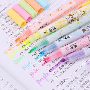 Fluorescent-Pen Highlighter Mark-Pen Office-Stationery Pen-Color Cute Set Fragrance Double-Headed