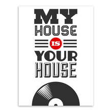 Modern Pop Vintage Music My House Is Your A4 Large Poster Prints Original Letter Quotes Canvas Painting Home Wall Art Gift