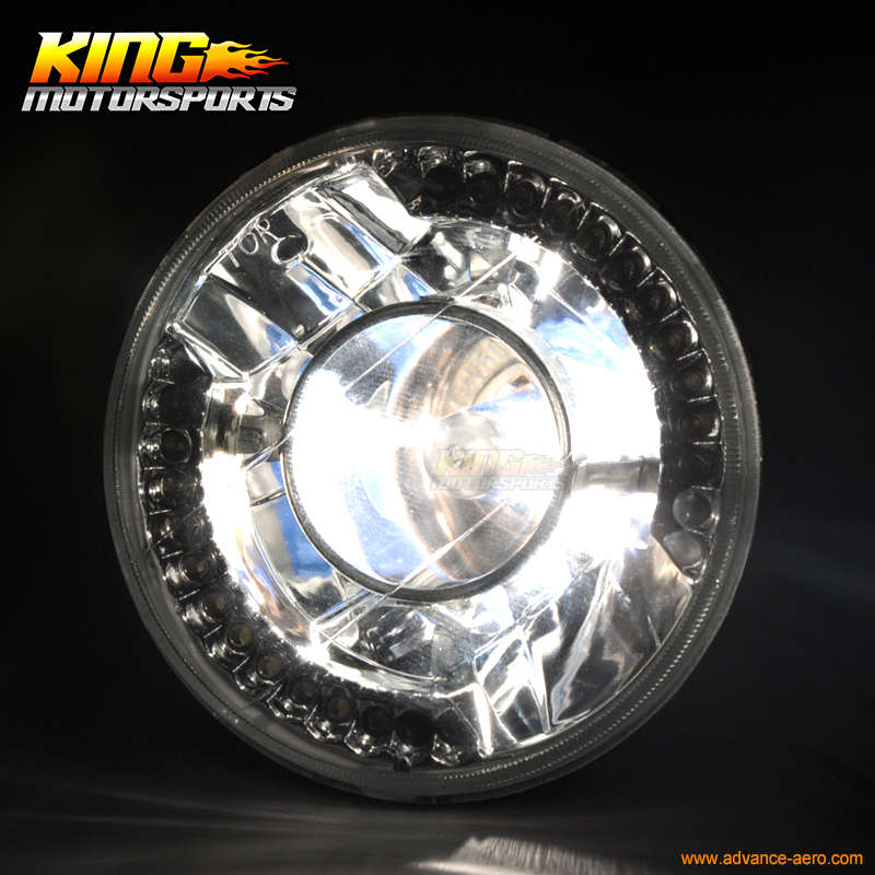 Round H4 Bulbs 5 3 4 Inch 5.75 Inch Clear LED Projector Headlights USA Domestic Free Shipping Hot Selling