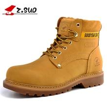 Z. Suo hommes de bottes. en cuir hommes bottes, de haute qualité mode rétro en cuir bottes, erkek bot ZSGTY16016