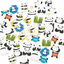 45 Pcs/box  Cute panda Mini Paper Sticker Decoration diy Diary Scrapbooking Label Stationery kawaii School Supply