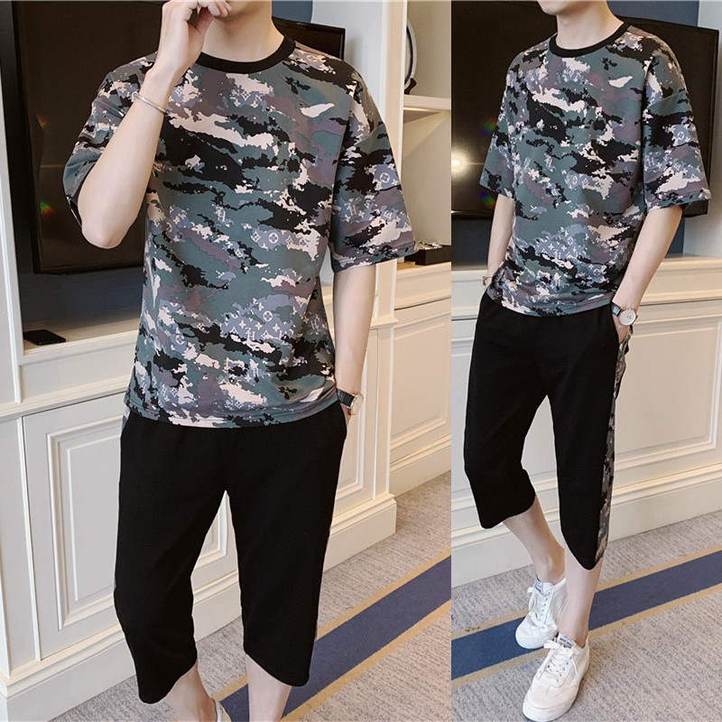 Mens t Shirts Suit Fashion 2019 Large Size  t-Shirt Camouflage  Universal For Casual Young Man Comfortable Fabric