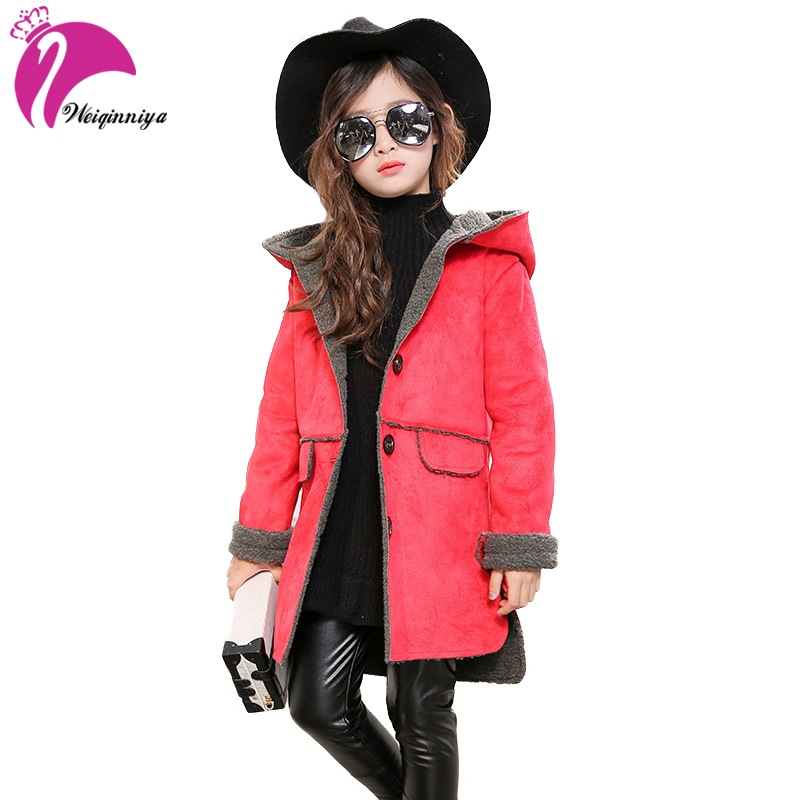 Baby Girls Jacket 2017 Autumn Winter Jacker For Girls Winter Coat Kids Warm Hooded Children Outerwear Coat For Girls Clothes v tree girls jacket coat fleece girls hoodies spring autumn kids sweatshirt warm girls tops coat zipper clothes baby clothes