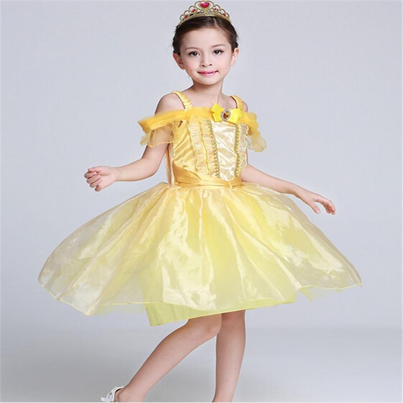 Hot Brand Kids Girl Belleza y bestia cosplay carnaval disfraz niños - Ropa de ninos