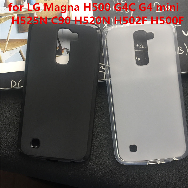 Soft Silicone Protective Back Cover Cases for LG Magna H500 G4C G4 mini H525N C90 H520N H502F H500F TPU Mobile Phone Case image