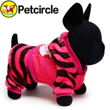 Free Shipping Petcircle Hot Sale Pet Dog Clothes Soft And Comfortable Dog Cat Clothing Size XXS-L striped dog coat dog hoodie