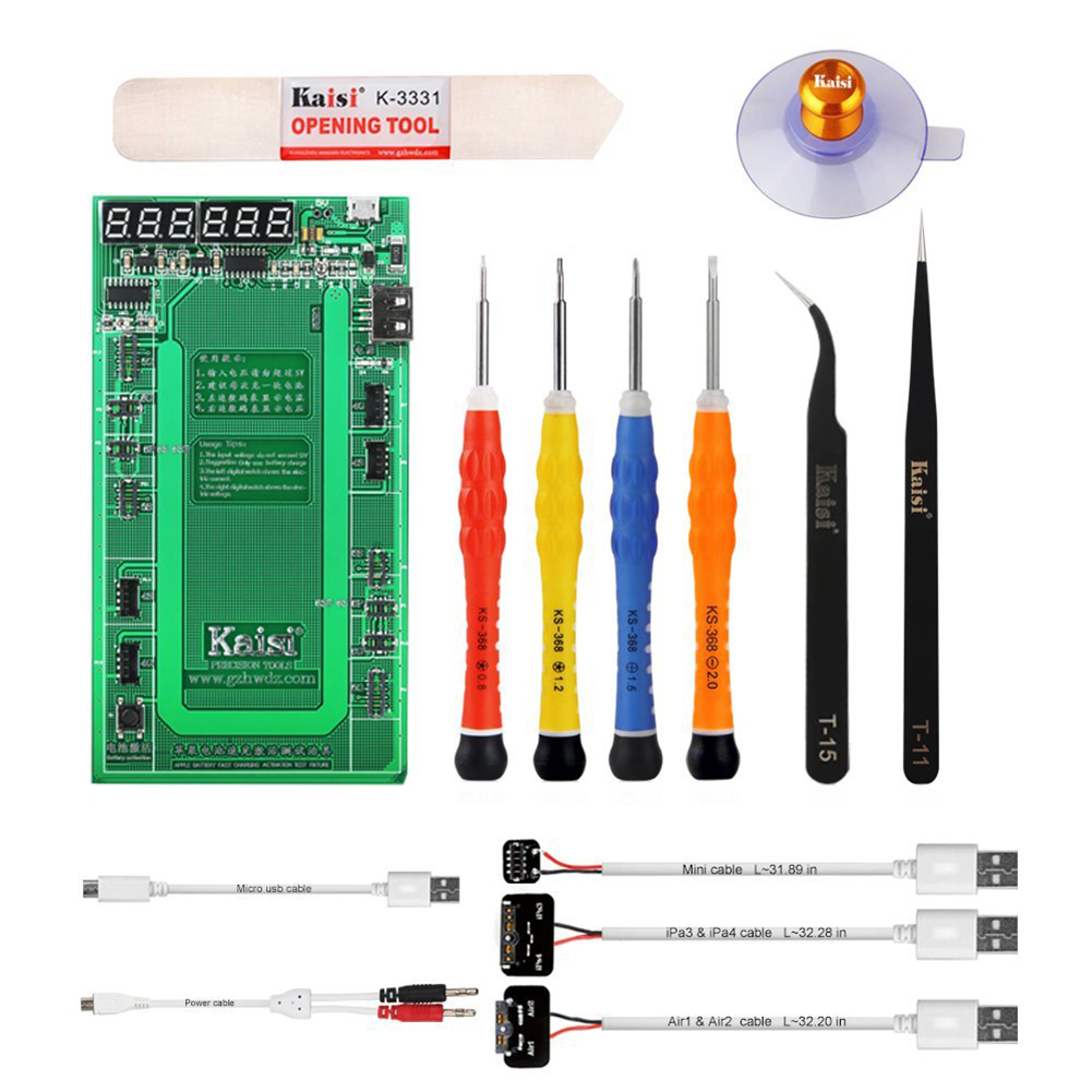 Kaisi Battery Tester/charger Activation Board for Apple Phone 4/4s/5/5c/5s/6/6s/6+/6s+/ipad 4/ipad Mini /Ipad Air