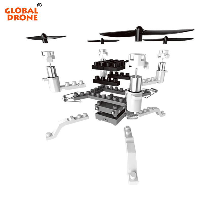 FPV Drone Helicopter-Toys Sensor Camera Building-Block Altitude-Hold Headless DIY