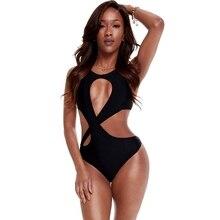 255556c6dc Maillot de bain femme noir une pièce Trikinis 2019 maillot de bain évidé  maillots de bain Bandage femmes femmes maillot de bain .