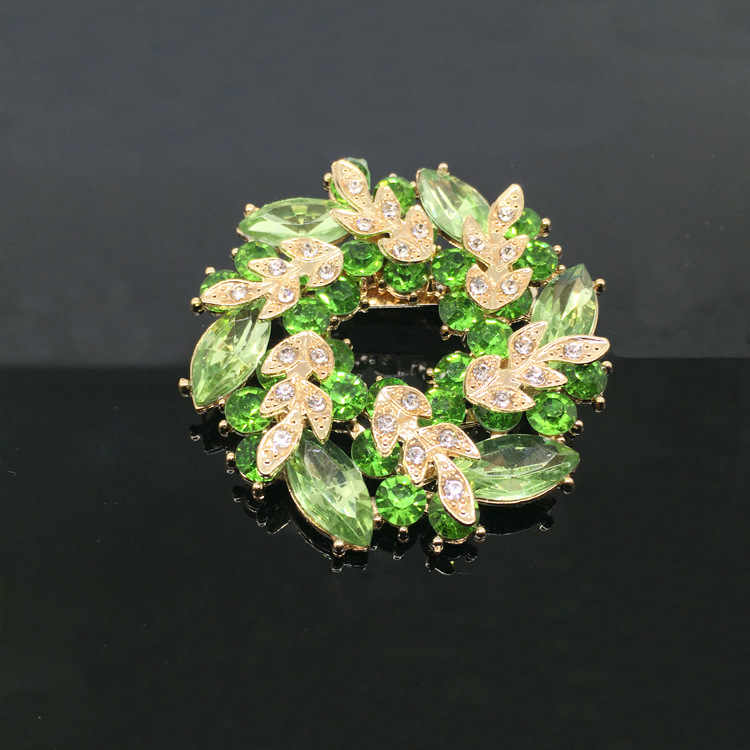 Moda de alta qualidade colorido cristal redondo bauhinia flor broche pinos strass brilhante manto feminino xale cachecol pino h1050