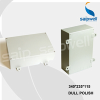 Nuevo Caja de aluminio impermeable Industrial de tamaño 340 235 115mm con CE ROHS
