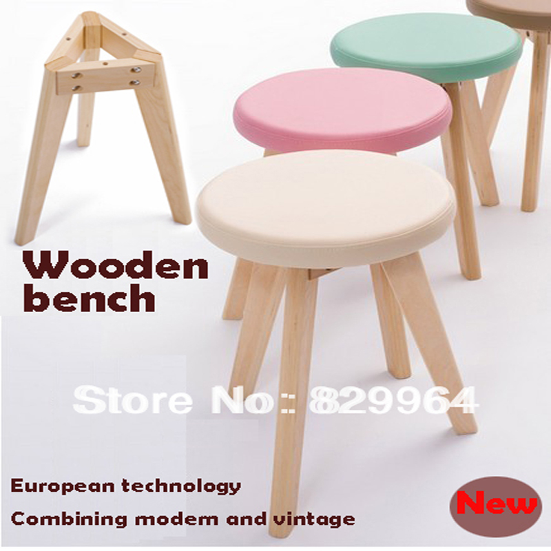 Wholesale,promotion100% solid wood+Korea PVC,wood stool,dining chair,suitable for home furnishing or outdoor,live room furniture excellent quality simple modern stools fashion fabric stool home sofa ottomans solid wood fine workmanship chair furniture
