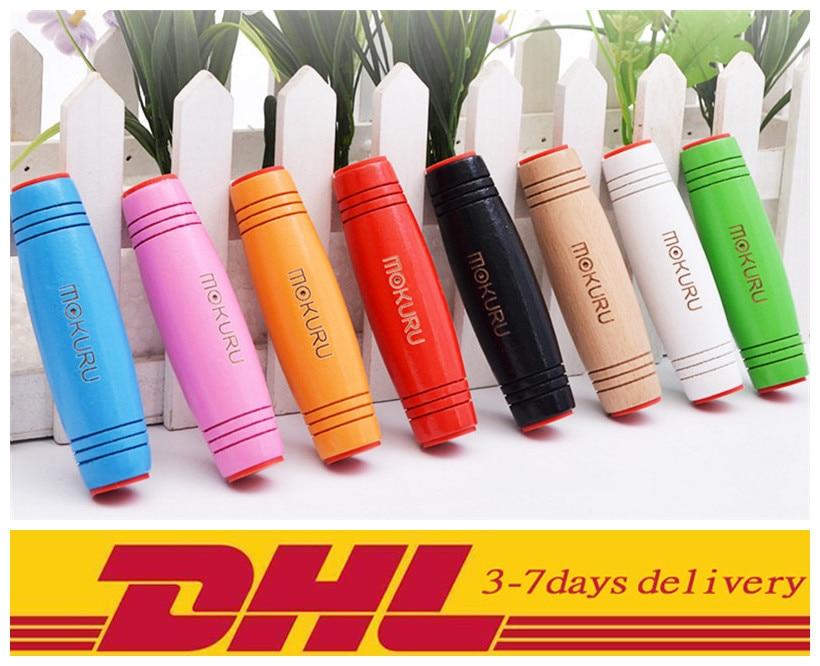 DHL Fidget Rollver fidget toys 8 colors Mokuru 60PCS/150PCS Novelty Gag Toys Decompression Toy 9.2*2.6*2.6cm