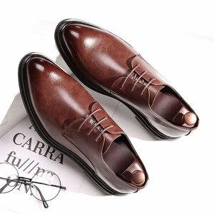 Image 3 - DESAI 靴男性韓国のファッションとんがりカジュアル紳士靴春夏秋冬レザーシューズビジネス予告なく変更、削除