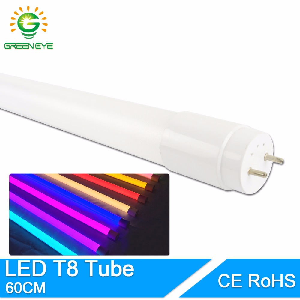 GreenEye High Bright LED Tube T8 Integrated 10w 60cm 2Feet 220V LED Fluorescent Light Tube LED Lamp Warm Cold White Bulb neon energy savingt8 60cm led 10w fluorescent 40w equivalent tube replacement fluorescent lamp fixture no ballast no uv