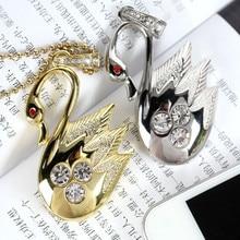 Jewelry Diamond Swan Mini USB 2TB 16GB 32GB 64GB Memory Stick USB 2.0 Flash Pen Drive 2TB Pendrive 1TB Creativo Disk On Key Gift