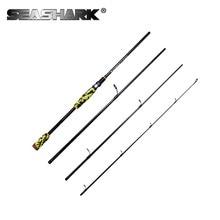 SEASHARK Fishing Rod Spinning Rod 4 Sections  Carbon 2.1m 2.4m Lure Weight 7-15g M Powet Feeder Rod Fishing Vara de pesca