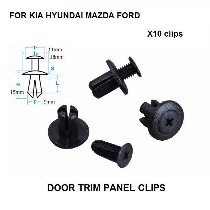 DOOR TRIM PANEL CLIPS FOR HONDA MAZDA MITSUBISHI NISSAN SAAB SUZUKI x10