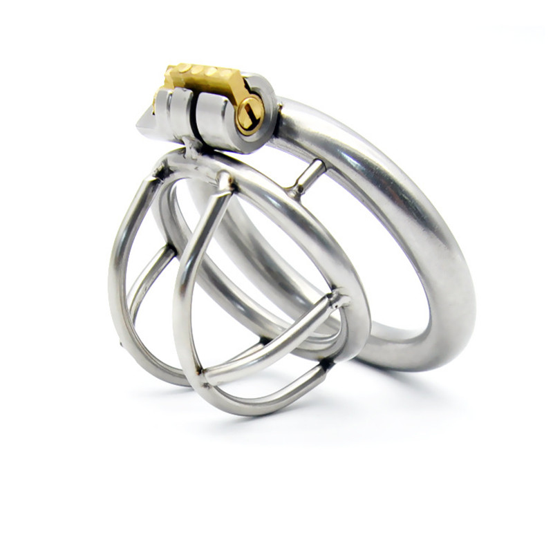 Buy Stainless Steel Cock Rings Male Penis Cage Ring Bondage Slave Metal Chastity Devices Belt Sex Toys Adult Products Men - A231