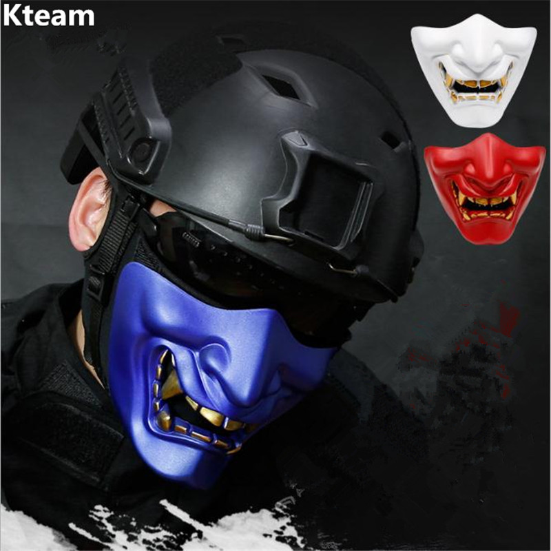 Hot Sale Resin Movie Vintage Japanese Buddhist Evil Oni Noh Hannya Mask Halloween Party Costume Horror Face Mask CS Game Cosplay image