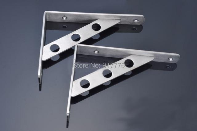 New 2 Piece Steel Shelf Bracket ( 150mm X 20mm X 100mm) Furniture  Connections Triangle