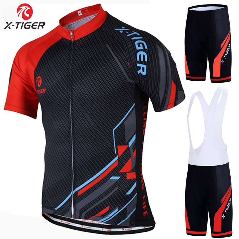 X-Tiger Summer Cycling Jersey set Maillot Ropa Ciclismo Cycling Bicycle Clothing MTB Bike Clothes Uniform Cycling Set elixa finesse e044 l136