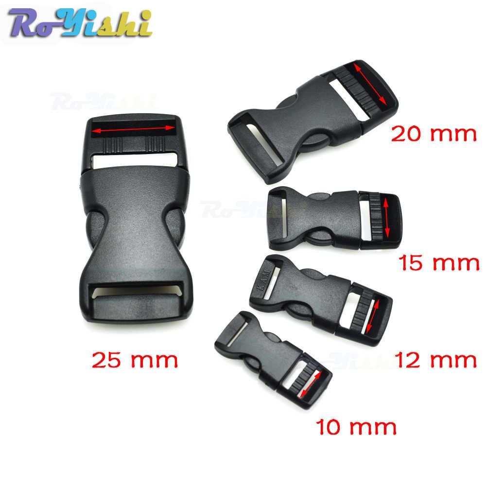 1 stks Plastic Zijsluiting Voor Paracord Armband/Rugzak Zwart