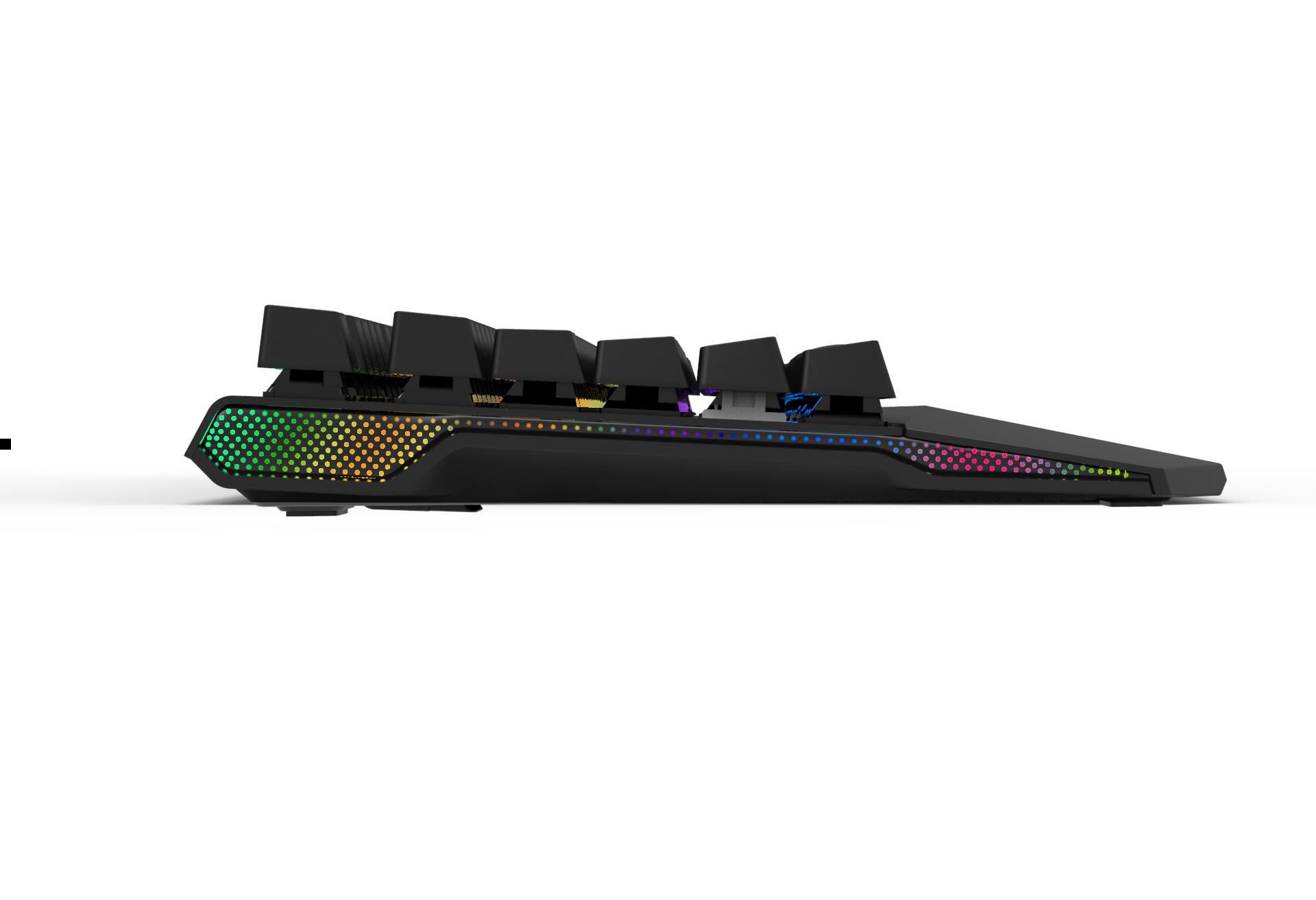 RK956 RGB Backlit Teclado de Jogo Mecânico Interruptor Marrom para Gamer