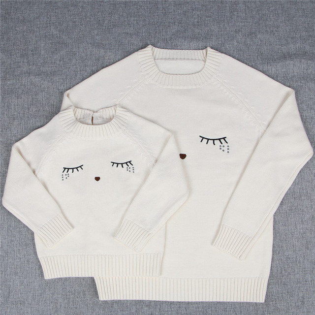 078888850 baby girl cotton knitted sweaters eyelashes design white color kids ...