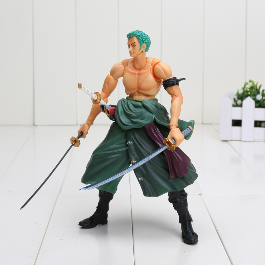 18cm One Piece Figure Variable Heroes Roronoa Zoro PVC Action Figure Collectible Model Toy 1set dental stainless steel rubber dam kit dental surgical instruments