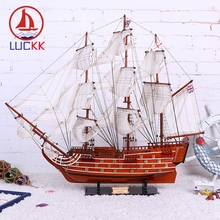 LUCKK DIY 80 CM Victory Wooden Sailboat Ship Model Home Decoration Accessorie Crafts Mediterranean Free Shipping SH1778