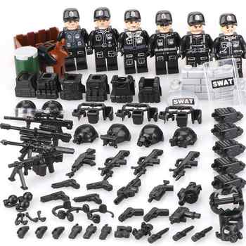 Moc Compatible Legoinglys Military minifigure Bicks Swat Police Army Team Mini Figure Building Blocks Toys For Children Gift - Category 🛒 Toys & Hobbies