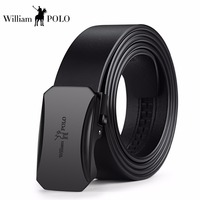 WilliamPolo Brand Designer Belts strap male genuine leather Men Belt Automatic Buckle waist luxury Business belt buckles for men