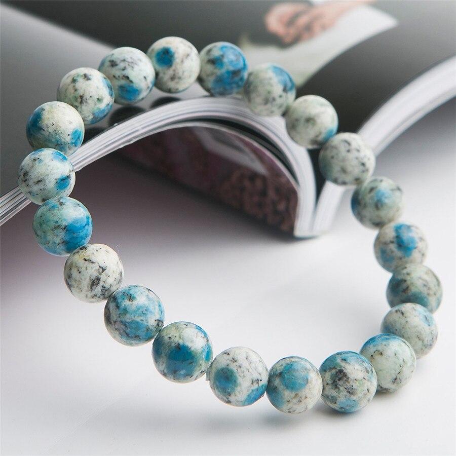 9mm Natural K2 Jasper Volcanic Jasper Gemstone Bracelets For Women Female Stretch Crystal Round Bead Bracelet (4)