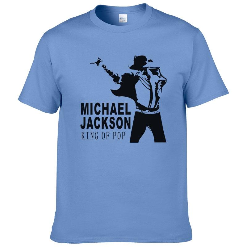 2017 Summer Michael Jackson   T     Shirt   Men Hip Hop Cotton Print Short Sleeve O Neck   T  -  shirt   Cool Tees #228