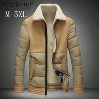 NewBang Brand 4XL 5XL Leather Jacket Man Plus Black Leather Jackets And Coats Male Motorcycle Jacket